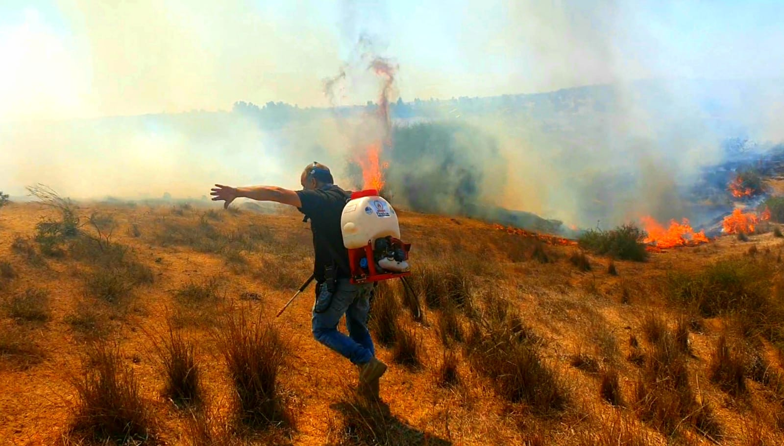 Fighting fires in the Eshkol region