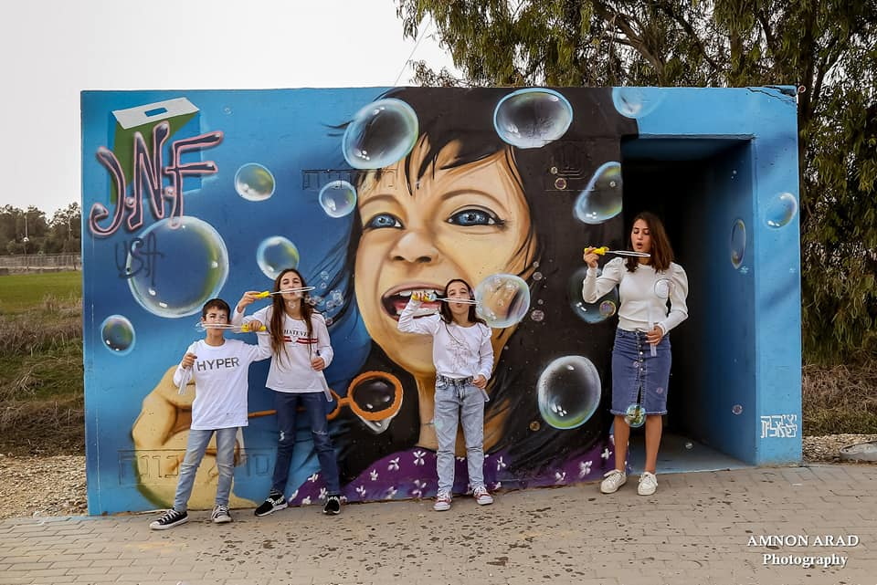 Bomb Shelter - family and bubbles