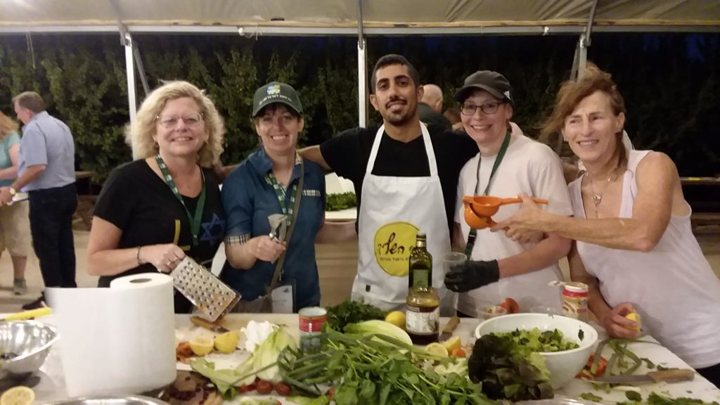 Educators Mission participants take part in a culinary competition at Baba Yona Farm in Israel's north (Courtesy JNF-USA)