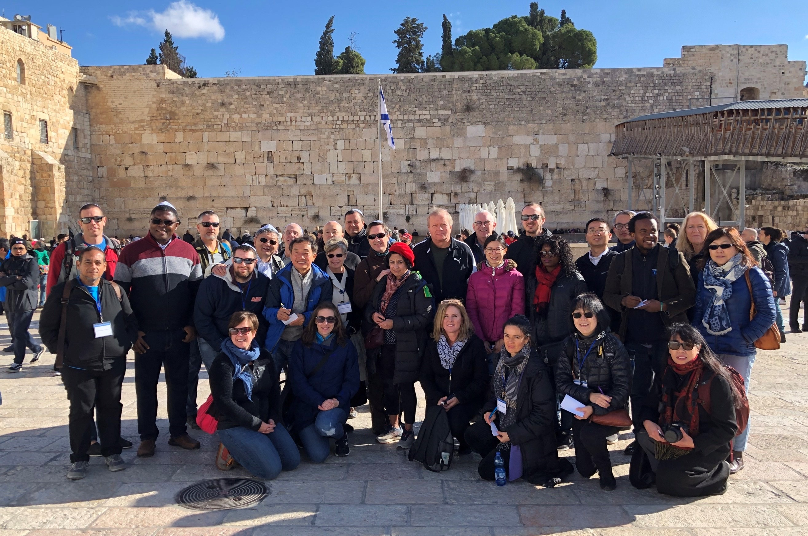 FFIN Participants in front of the Western Wall