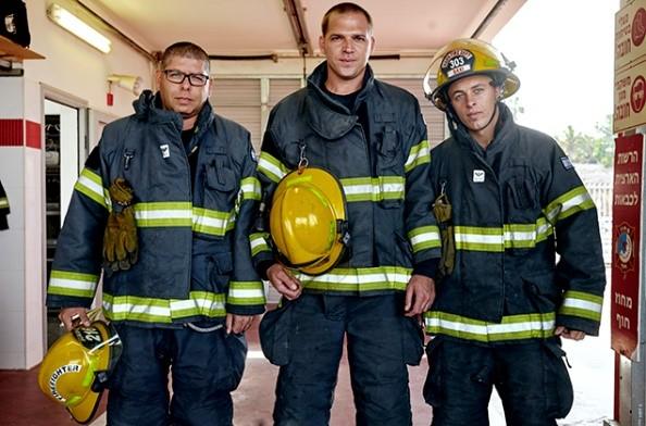 Israeli fire fighters