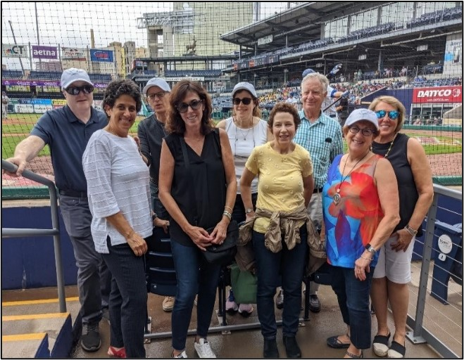Jewish National Fund-USA Southern New-England Board enjoying a morning watching Team Israel vs. the Bristol Blues at Dunkin Donuts Park on July 14, 2021