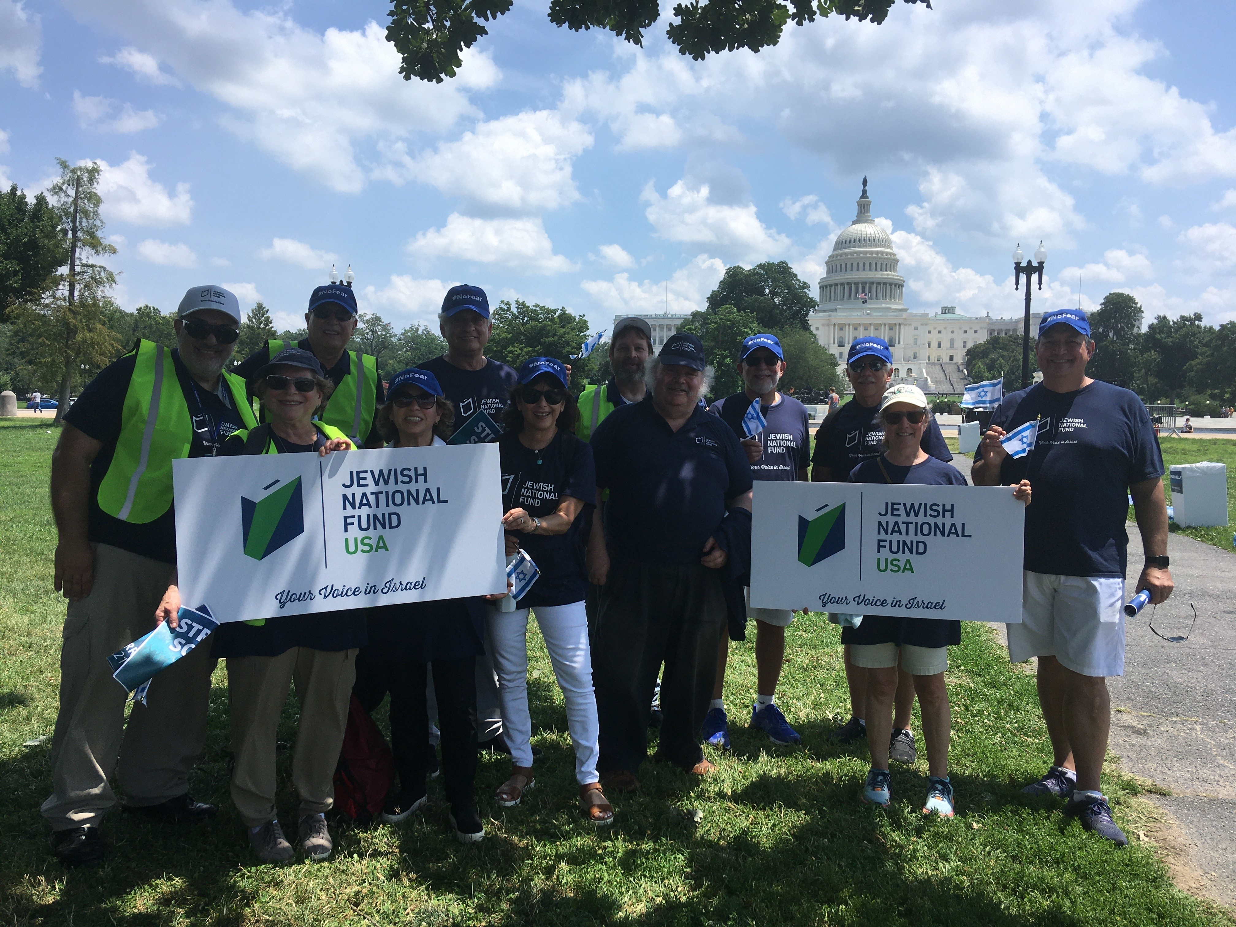 JNF-USA supporters at the No Hate Rally