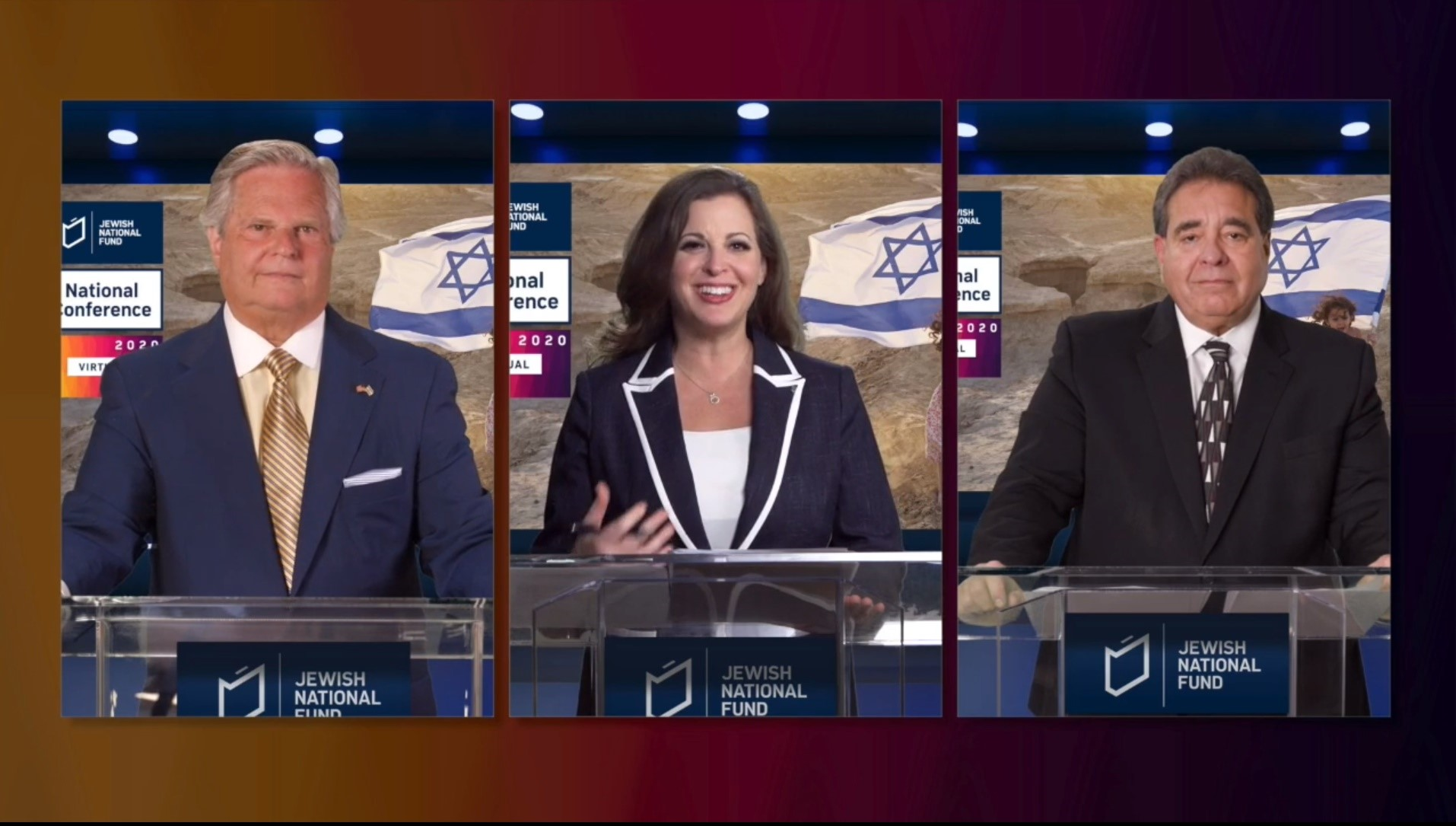 virtual conference main screen